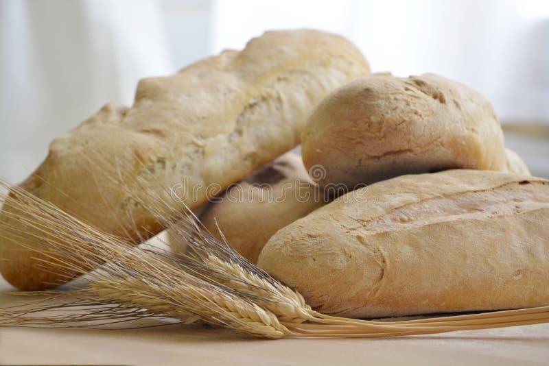 Свежий хлеб Homemede с ушами пшеницы стоковые фото