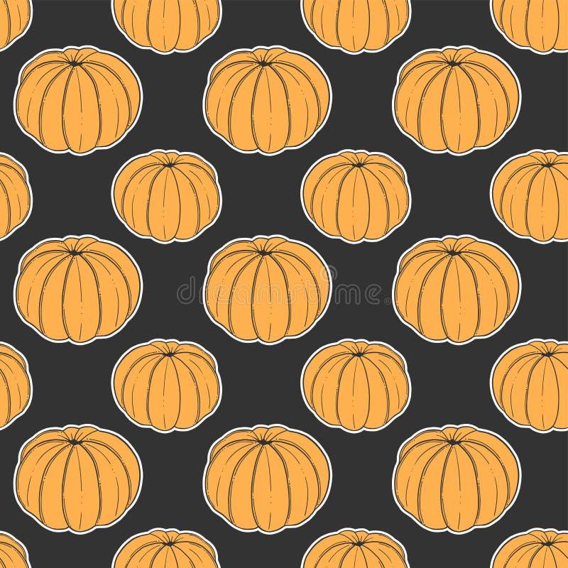 Свежий tangerine Концепция вектора в стиле doodle и эскиза Иллюстрация руки вычерченная для печати на футболках, открытках стоковое изображение