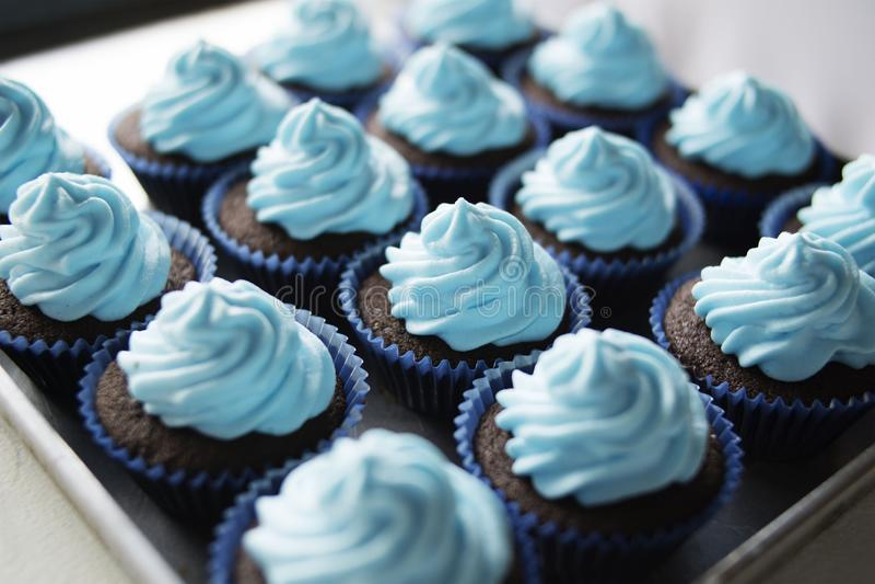 Свежо испеченные сладкие очень вкусные торты чашки стоковые фото