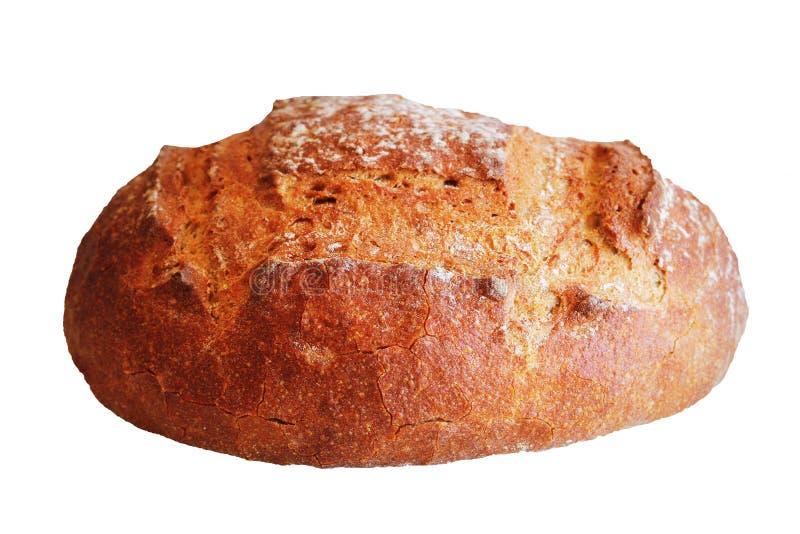 Свежо испеченный хлебец домодельного хлеба на белой предпосылке стоковое фото
