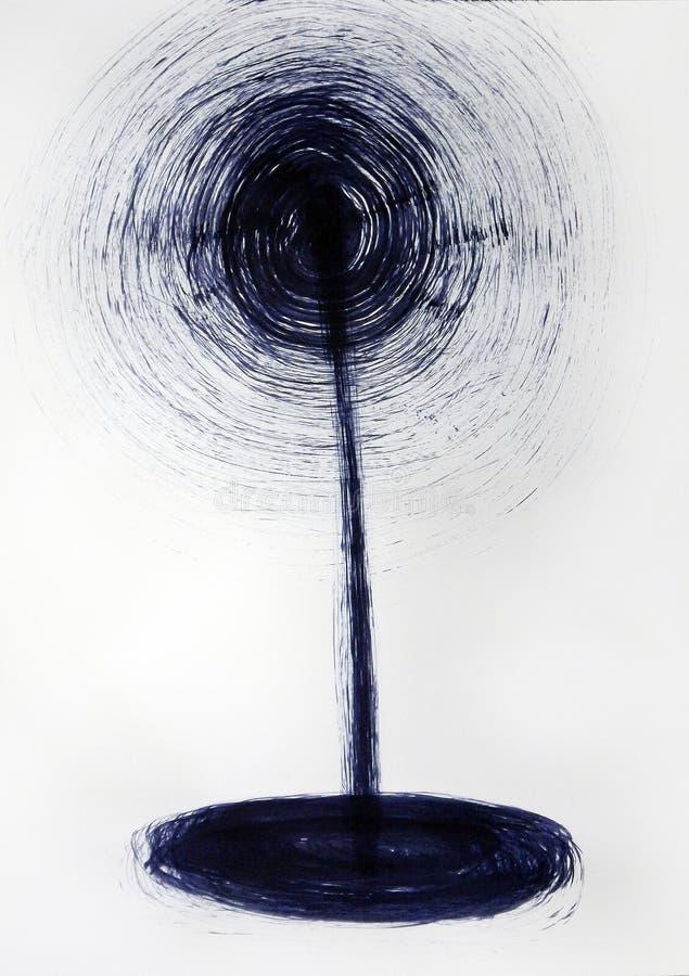 Сверкная бутон цветка иллюстрация штока