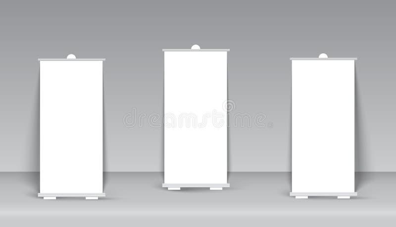 Сверните вверх изолированную стойку знамени на прозрачном изолировано бесплатная иллюстрация