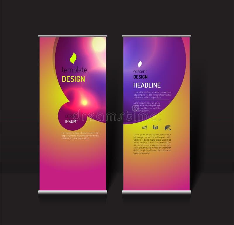 Сверните вверх шаблон дизайна знамени современная концепция света влияния иллюстрация штока