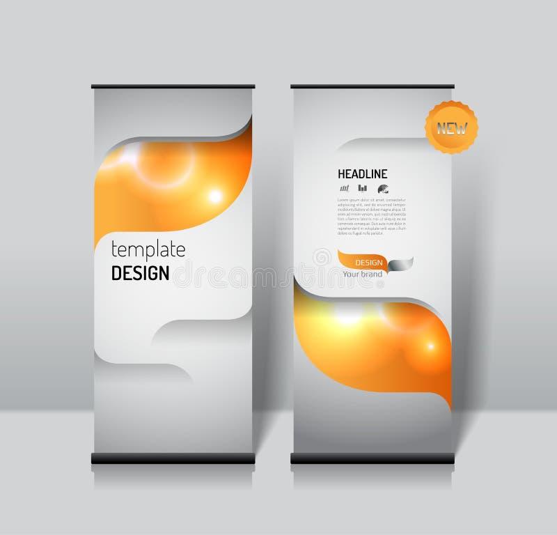 Сверните вверх шаблон дизайна знамени современная роскошная концепция бесплатная иллюстрация