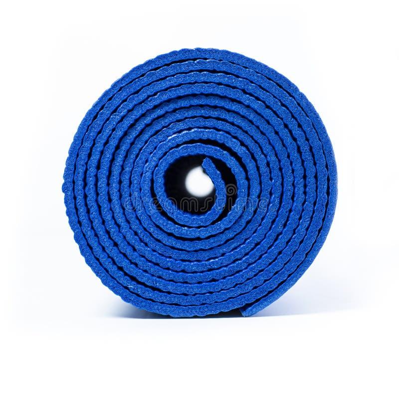 Свернутый вверх по циновке йоги стоковые фотографии rf