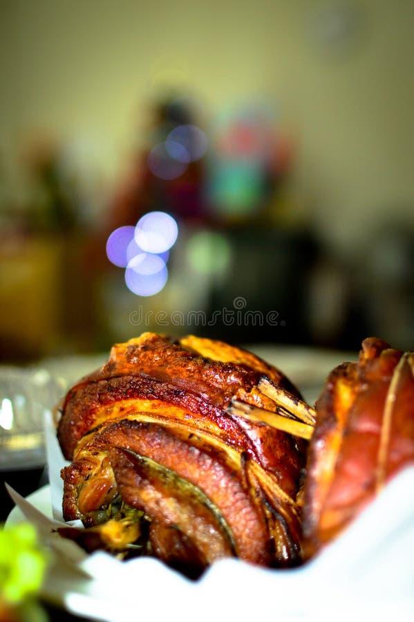 Свернутый жарким живот свинины стоковые изображения rf