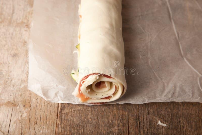 Свернутый пирог печенья слойки стоковые фото
