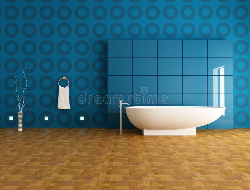 сверстница ванной комнаты голубая иллюстрация штока