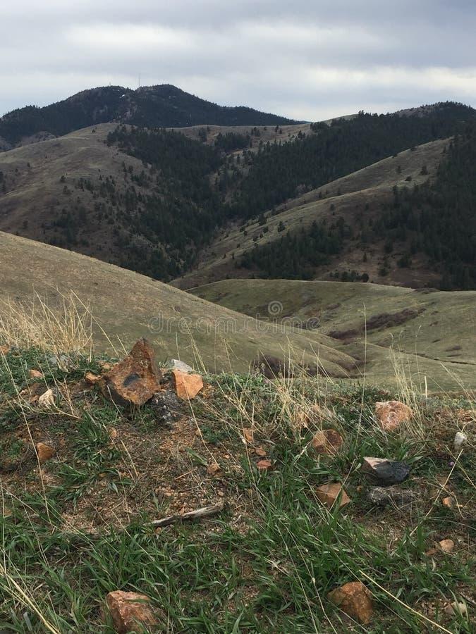 Свертывать hillsGolden Колорадо стоковое фото rf
