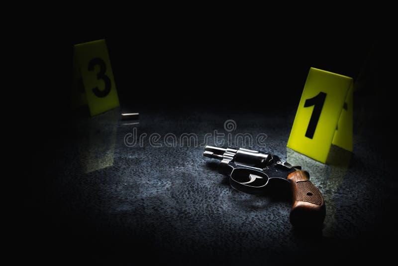 Сверхконтрастное изображение места преступления стоковая фотография rf