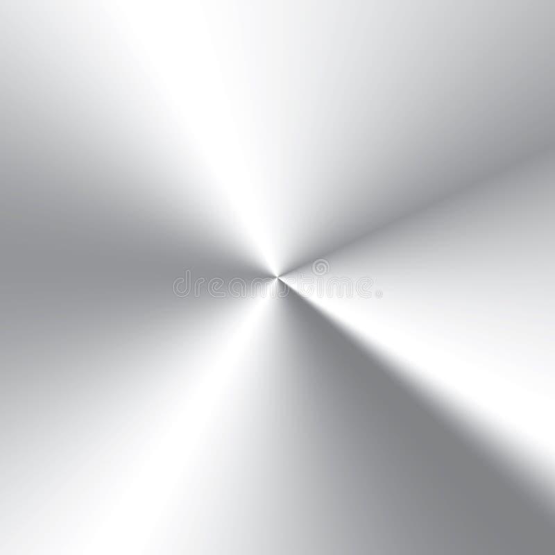Сверхконтрастным текстура почищенная щеткой циркуляром алюминиевая бесплатная иллюстрация