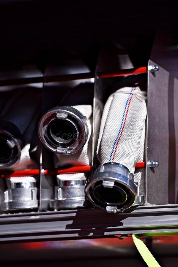 Сверхмощные шланги пожарного стоковые изображения rf