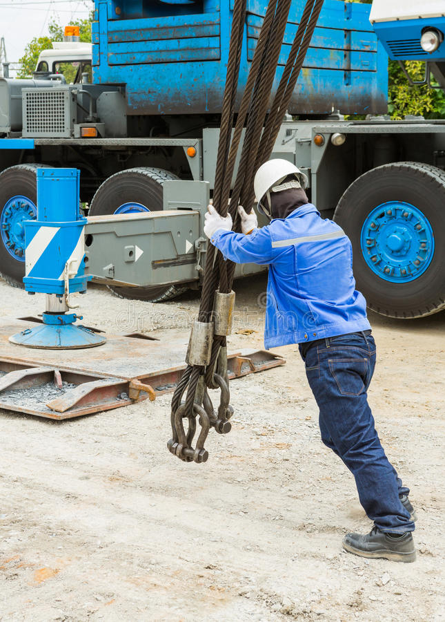 Сверхмощный слинг веревочки стального провода стоковая фотография