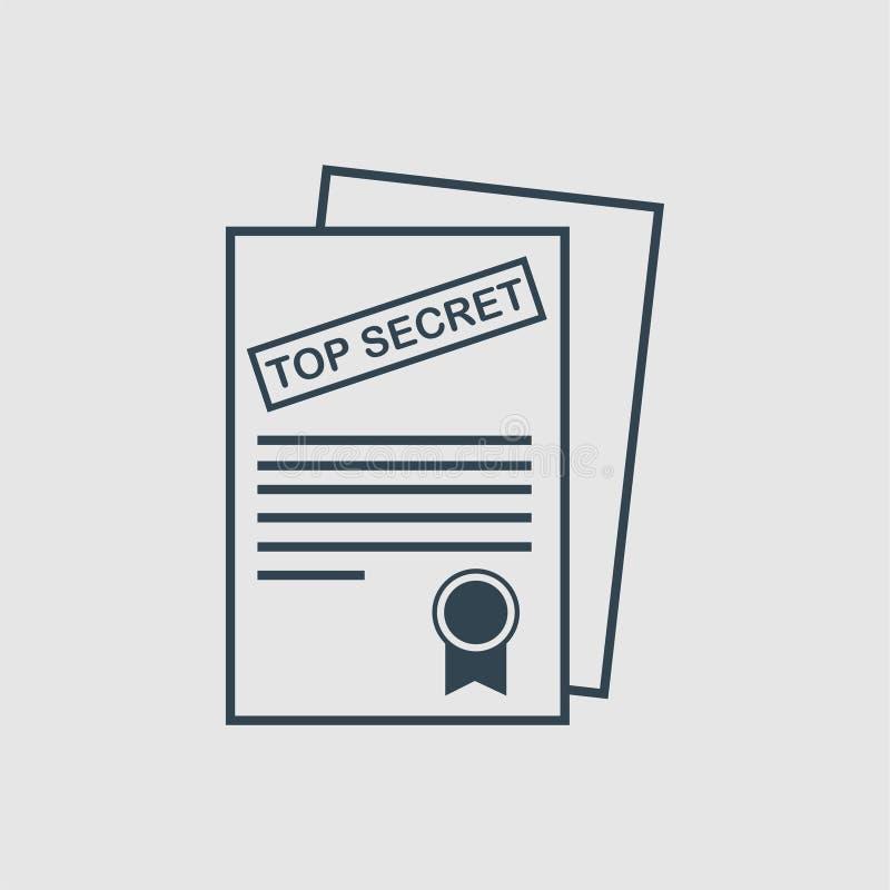 Сверхсекретная воодушевленность логотипа вензеля документа иллюстрация штока