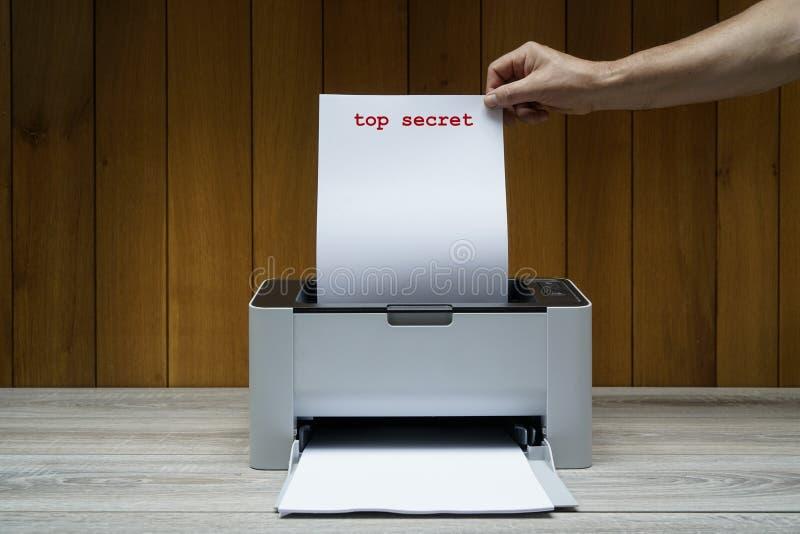 Сверхсекретный документ стоковая фотография