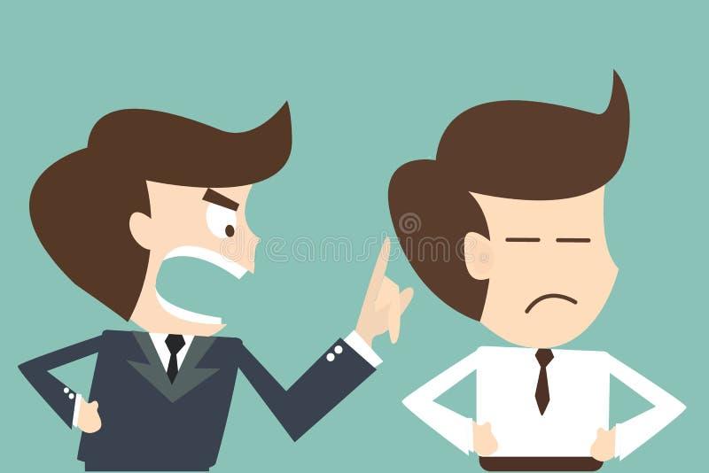 Сверлильная концепция босса - сердитый босс иллюстрация штока