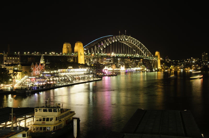 Света гавани Сиднея стоковые фотографии rf