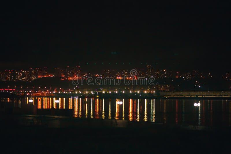 Света города ночи стоковая фотография rf