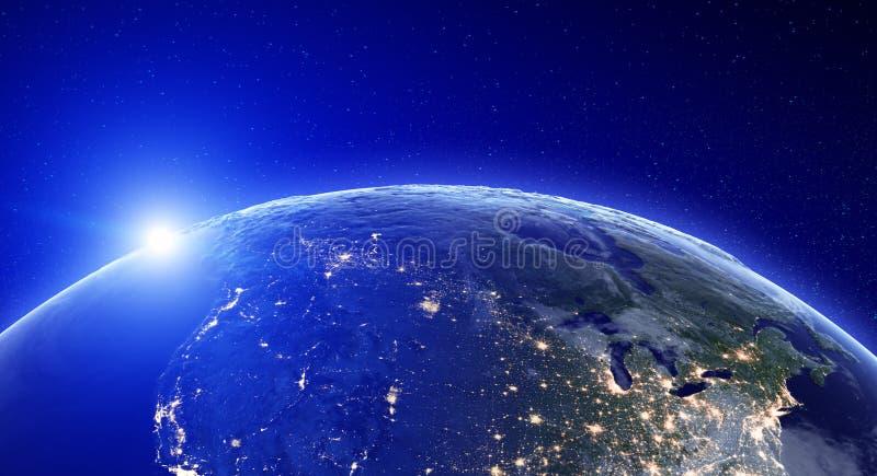 Света города - Северная Америка бесплатная иллюстрация