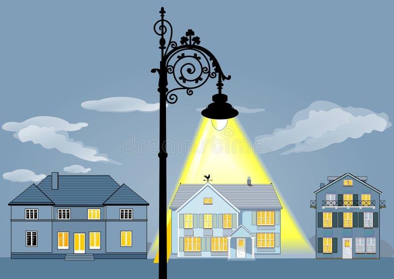 Света дома семьи иллюстрация штока