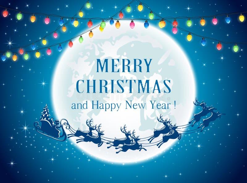 Света и Санта рождества иллюстрация штока
