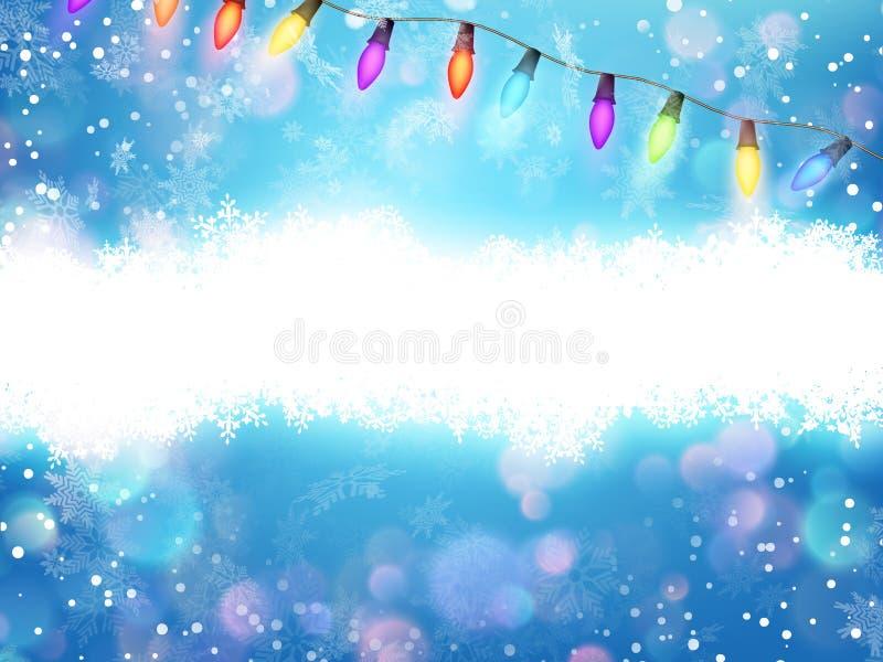 Света и снежинки гирлянды рождества 10 eps иллюстрация штока
