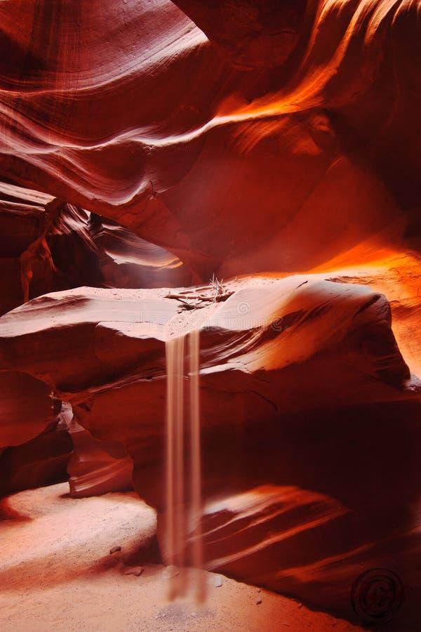 Света и слои каньона антилопы стоковое фото
