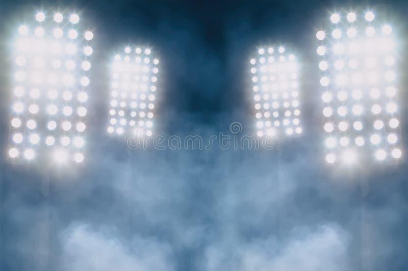 Света и дым стадиона стоковые фото