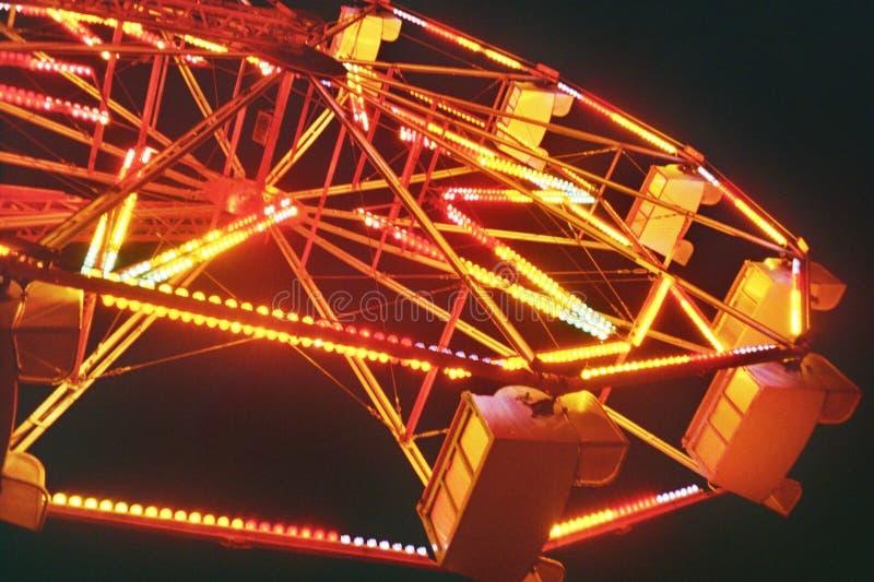 Света колеса Ferris праздничные стоковые изображения rf