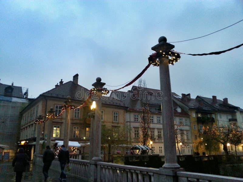 Света Любляны стоковые фото