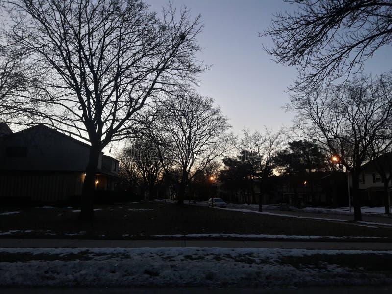Света неба зимы стоковые фото