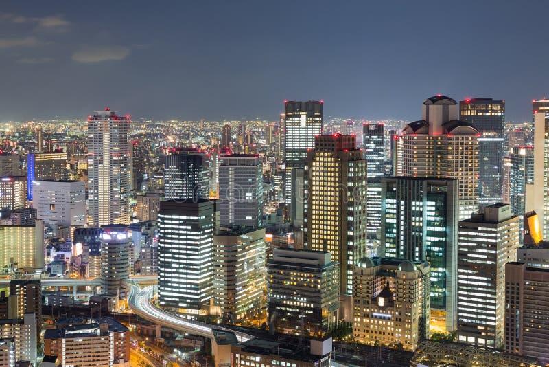Света ночей, дело Осака центральное городское стоковые изображения