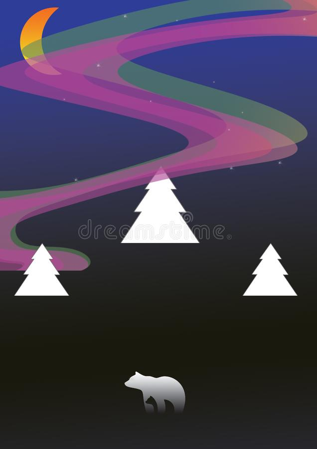 Света рассвета borealis-приполюсные стоковое изображение rf