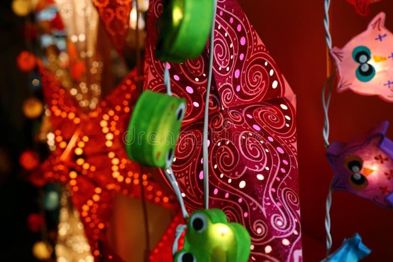 Света рождества декоративные стоковое изображение