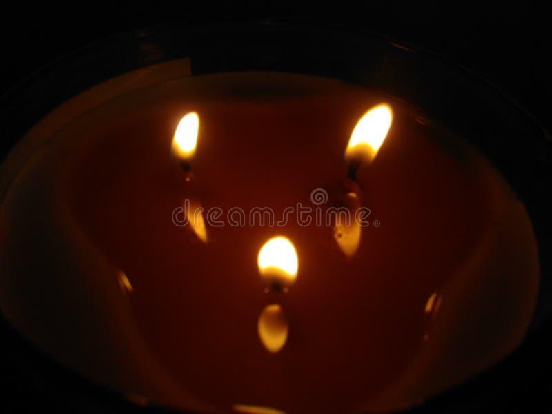 Света свечи стоковое фото