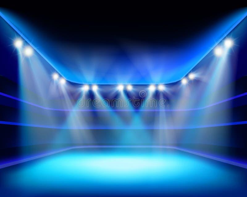 Света стадиона также вектор иллюстрации притяжки corel иллюстрация штока