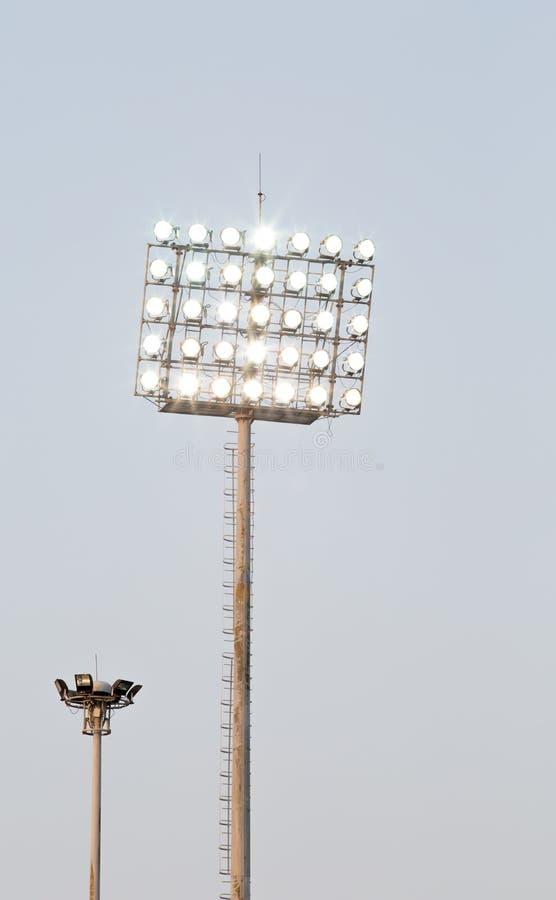 Света стадиона стоковое изображение
