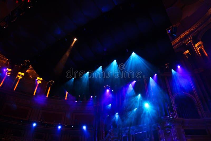 Света этапа в philharmony стоковая фотография