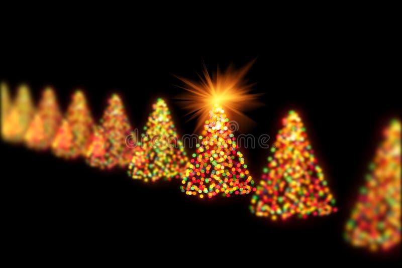 Света bokeh рождественских елок стоковые изображения