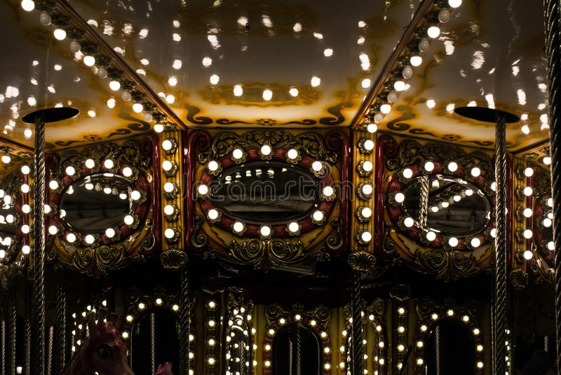 света carousel стоковые фотографии rf