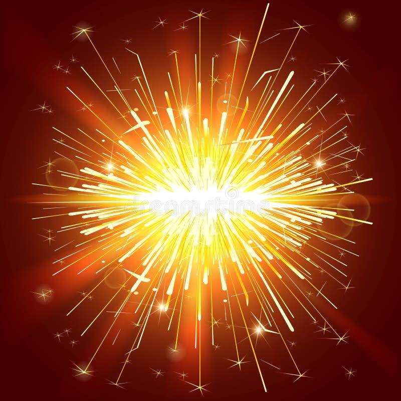 Света Sparkle иллюстрация вектора