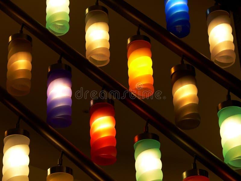 светильники цвета стоковые изображения rf