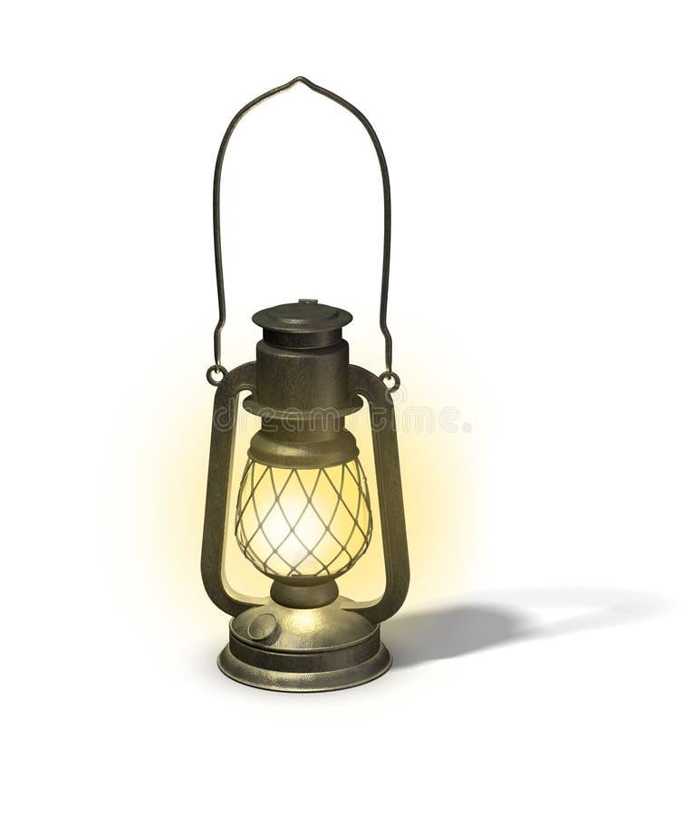 светильник старый иллюстрация вектора