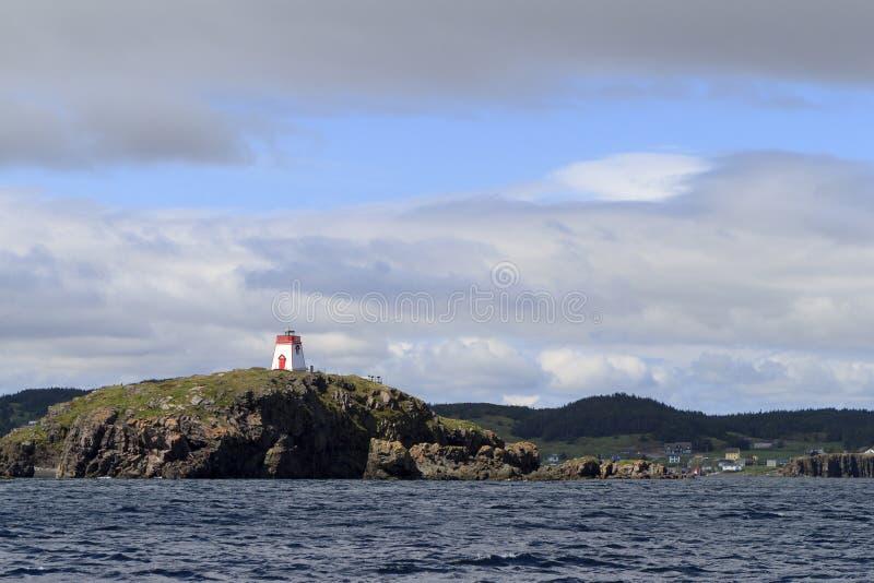 Светлая башня на береговой линии стоковые изображения