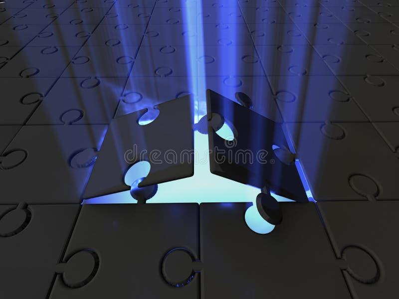 светлая головоломка стоковое фото rf