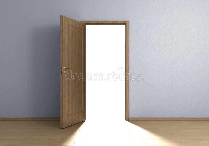 Светлая дверь Стоковое фото RF