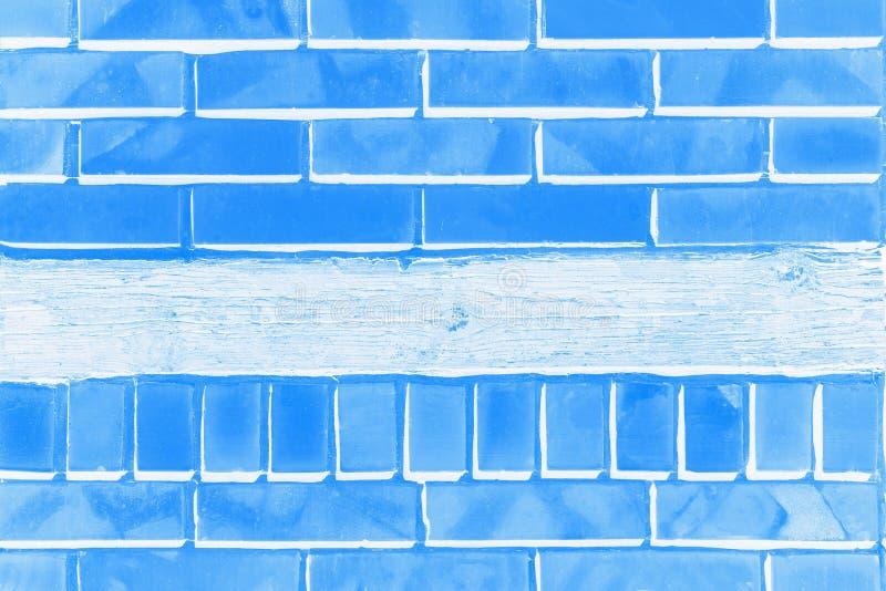 Светлая и темно-синая предпосылка цвета с картиной кирпича стоковое изображение rf