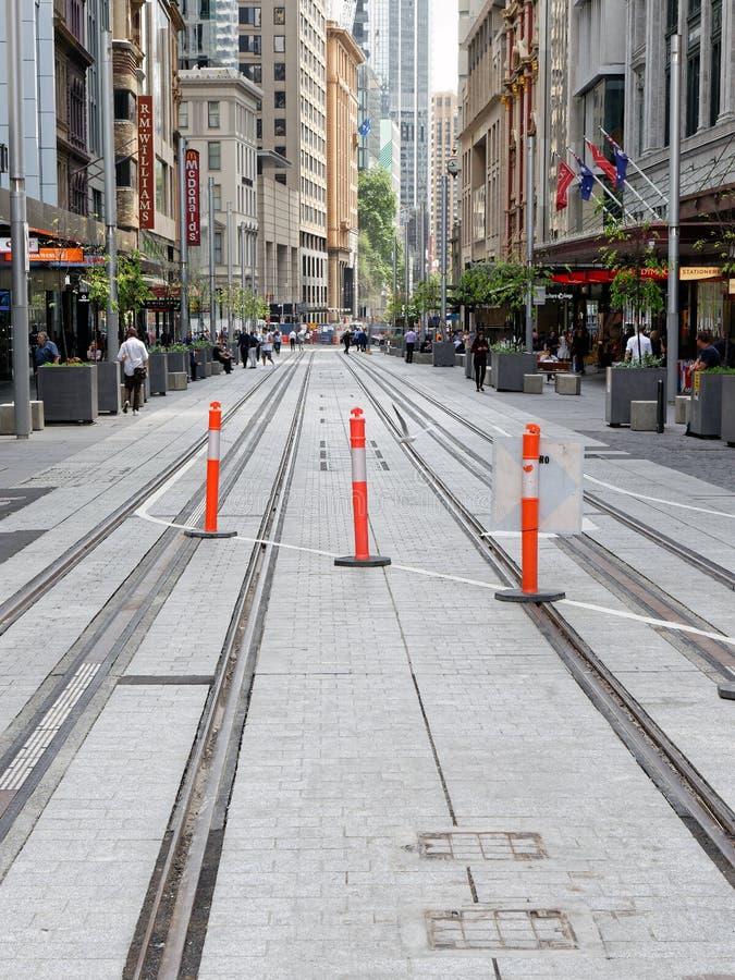 Светлая конструкция рельсового пути, Сидней, Австралия стоковое фото rf