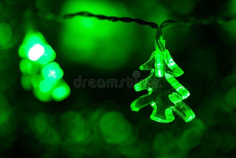 Светлая рождественская елка стоковые фотографии rf