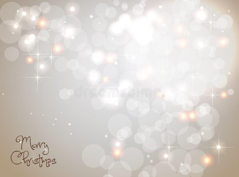 Светлая серебряная абстрактная предпосылка рождества иллюстрация штока